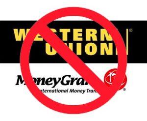 gebruik geen western union of moneygram