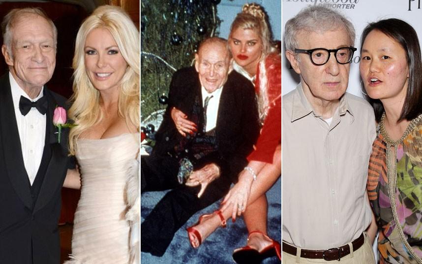 extreme voorbeelden van oudere mannen met jongere vrouwen