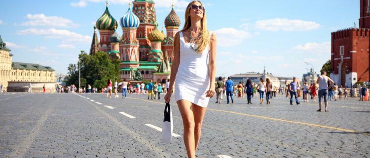 vrouw in moskou, rusland