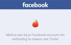 inloggen met facebook bij tinder
