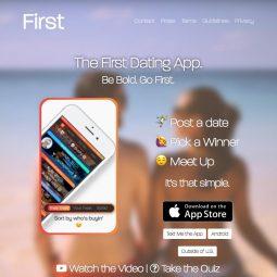 Nieuwe dating app First laat je gelijk daten!