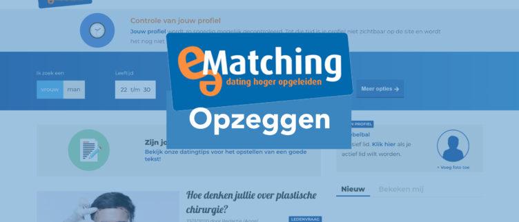 e-Matching opzeggen en uitschrijven